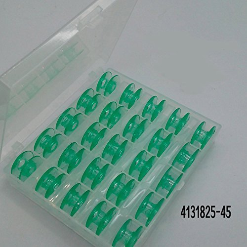 25 Green bobbins In Box for Viking Husqvarna sewing machines Plastic 4131825-45